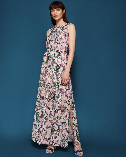 Ted Baker - Multicolor Jungle Print Dress - Lyst
