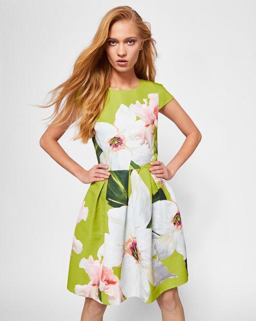 Ted Baker - Green Chatsworth Bloom Skater Dress - Lyst