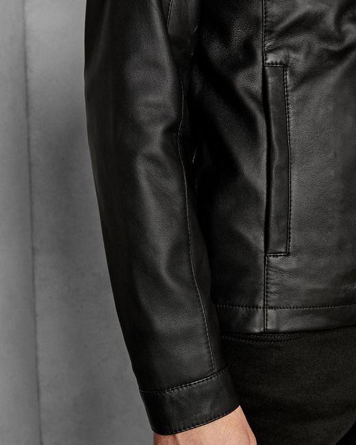 09dfb78d6 ... Ted Baker - Black Leather Jacket for Men - Lyst ...