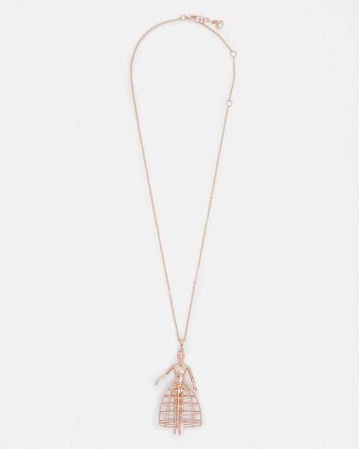 Ted Baker | Multicolor Petticoat Ballerina Necklace | Lyst