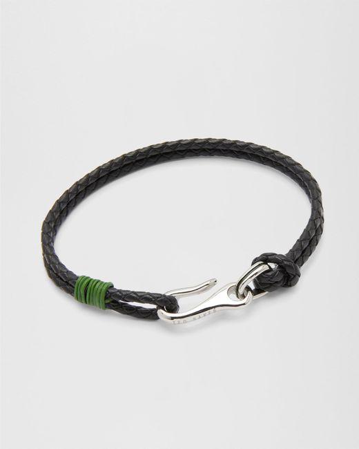 Ted Baker - Green Double Strand Leather Bracelet for Men - Lyst