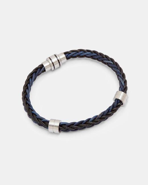 Ted Baker - Black Two-tone Weaved Bracelet for Men - Lyst