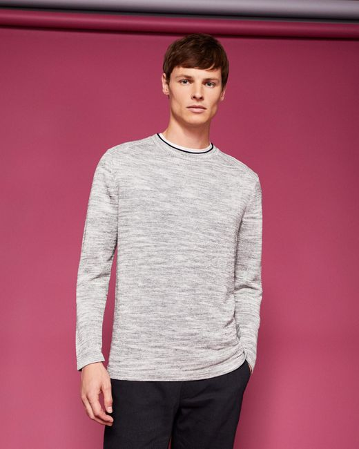 Ted Baker - Gray Crew Neck Jumper for Men - Lyst