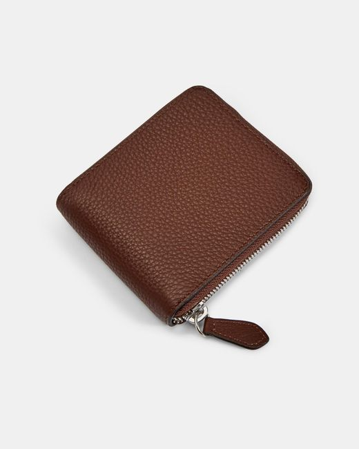 281089ddb9cc Ted Baker - Brown Core Leather Coin Wallet for Men - Lyst ...