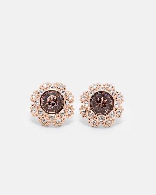 Ted Baker - Pink Tbj1584 Daisy Lace Stud Earrng - Lyst