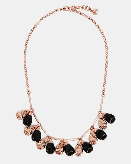Ted Baker   Black Mini Plissé Drop Necklace   Lyst