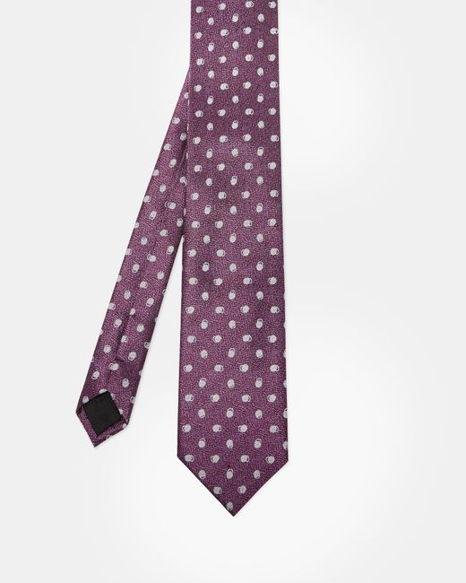 Ted Baker - Purple Spotted Silk Tie for Men - Lyst