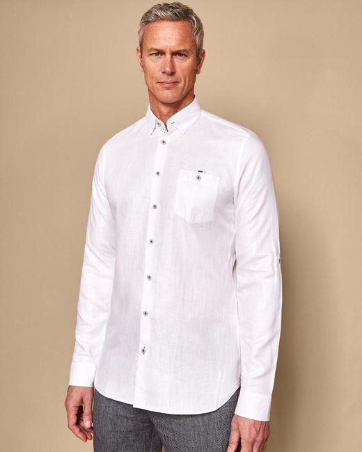 Ted Baker - White Linen Shirt for Men - Lyst