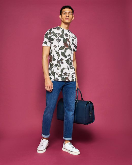 4ddaf00bc3a6 ... Ted Baker - Pink Animal Print Cotton T-shirt for Men - Lyst ...