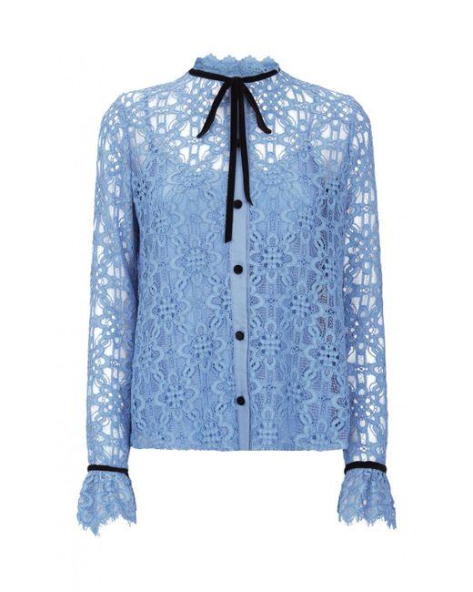 Temperley London | Blue Eclipse Lace Shirt | Lyst