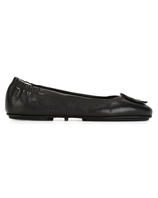 Tory Burch | Black 'minnie' Travel Ballet Flat | Lyst