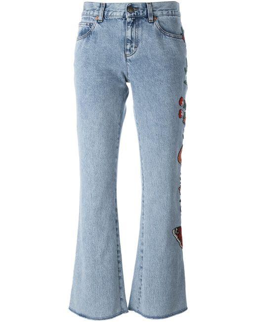 Gucci   Blue Stonewash Mid-rise Flared Jeans   Lyst