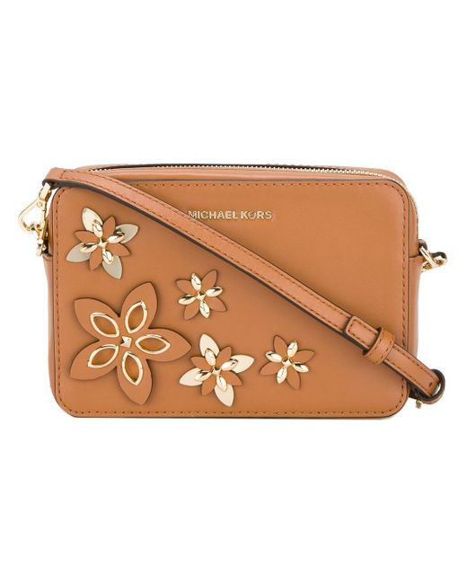 MICHAEL Michael Kors | Brown 'flowers' Pouch | Lyst