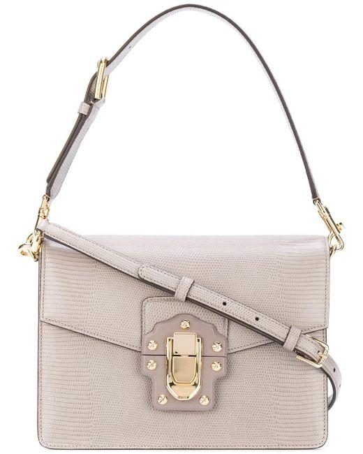 Dolce & Gabbana | Gray Lucia Shoulder Bag | Lyst