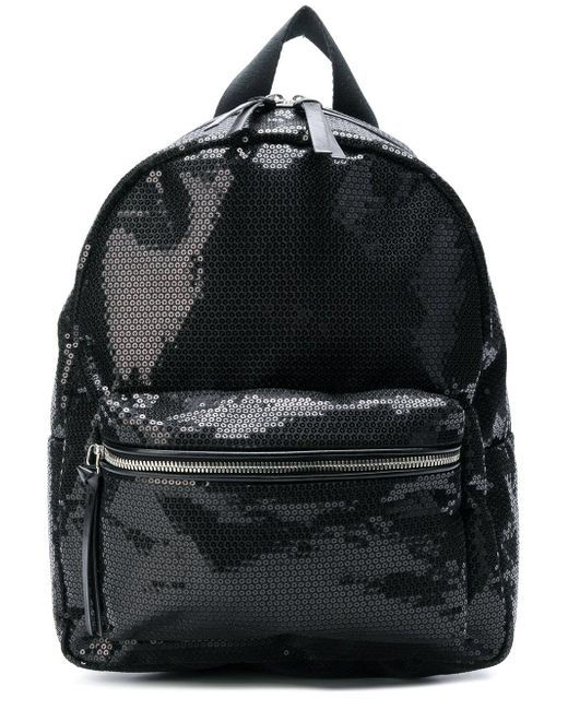 MM6 by Maison Martin Margiela - Black Backpack With Paillettes - Lyst