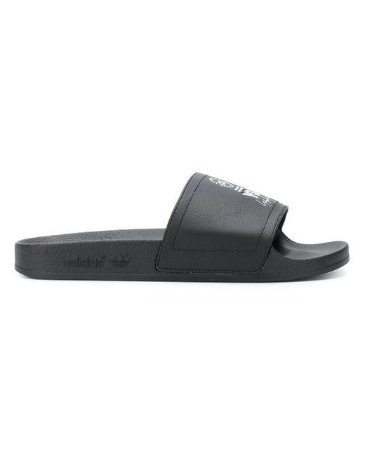 Y-3 - Black Slippers Adilette for Men - Lyst