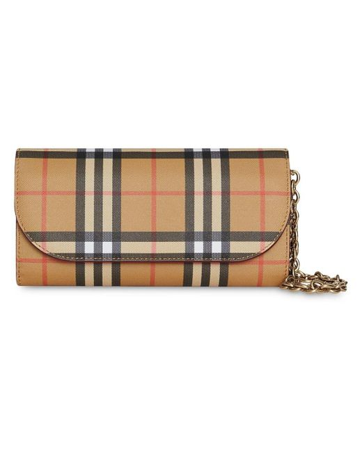 Burberry - Red Henley Leather Wallet On Chain - Lyst
