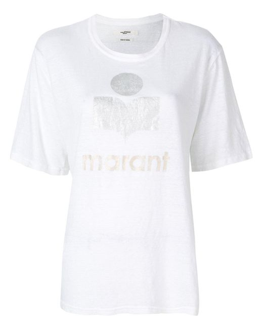 Lyst toile isabel marant kuta t shirt in white for Isabel marant t shirt sale