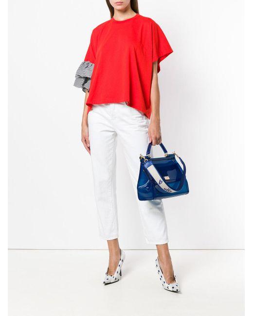 320df0096a Dolce   Gabbana Miss Sicily Rubber Handbag in Blue - Save 40% - Lyst