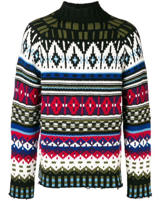 MSGM - Multicolor Fantasy Printed Sweater for Men - Lyst