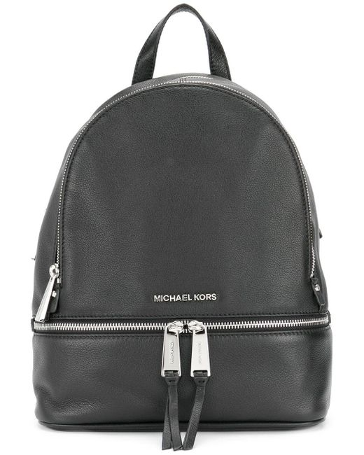 f1dbc53ce826 Lyst - MICHAEL Michael Kors Rhea Zip Leather Backpack in Black - Save 7%
