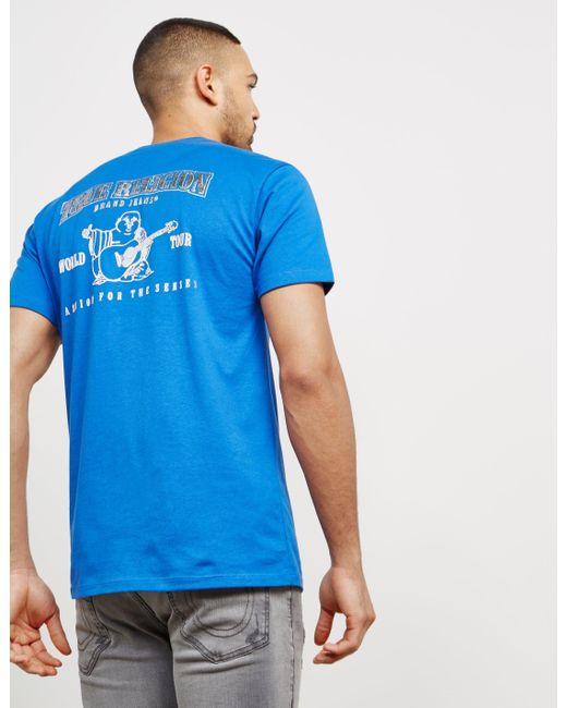 True Religion - Mens Silver Puff Short Sleeve T-shirt Blue for Men - Lyst