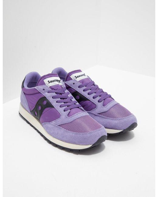 Saucony Jazz Original Purplewhite Trainers in Purple Lyst