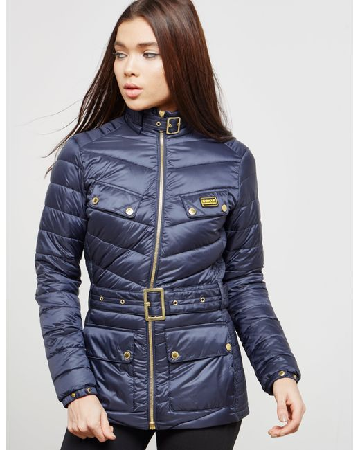 Lyst Barbour Womens International Gleann Quilted Jacket Navy Blue 63ab16c37