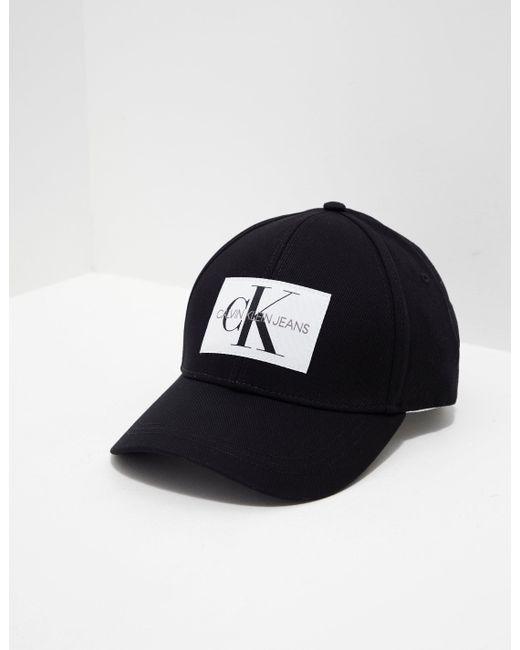... Calvin Klein - Black Monogram Logo Baseball Cap - Womens All - Lyst ..  ... 7f27f75a7949
