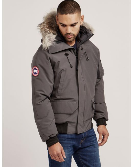 Canada Goose - Gray Mens Chilliwack Padded Bomber Jacket Grey for Men -  Lyst ...
