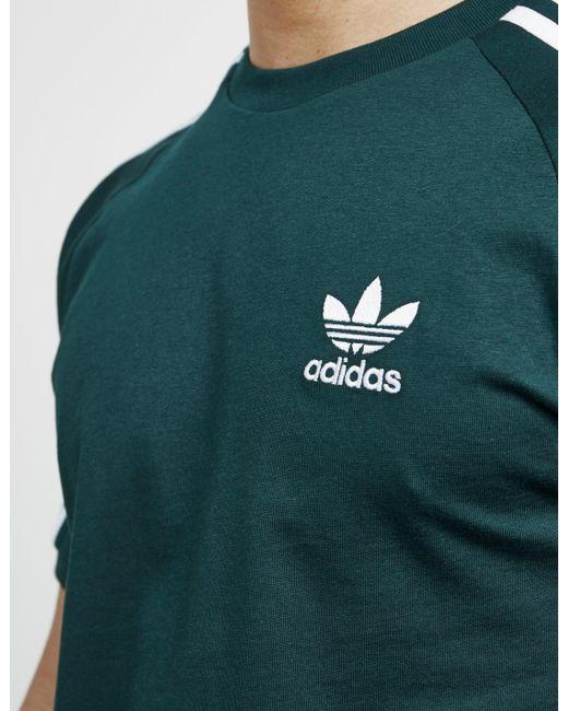 Lyst adidas Originals hombre  3 rayas camisa de manga corta Verde en