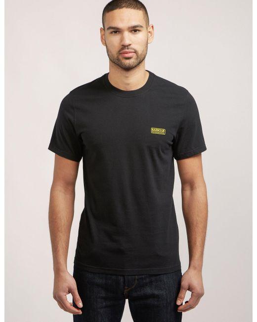 Barbour | Black International Short Sleeve Logo T-shirt for Men | Lyst