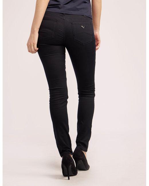 Armani Jeans | Black J28 Mid Waist Jean | Lyst