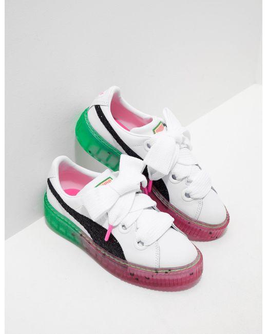 PUMA - X Sophia Webster Platform Candy Princess Trainers White - Lyst ... 5351e4d14