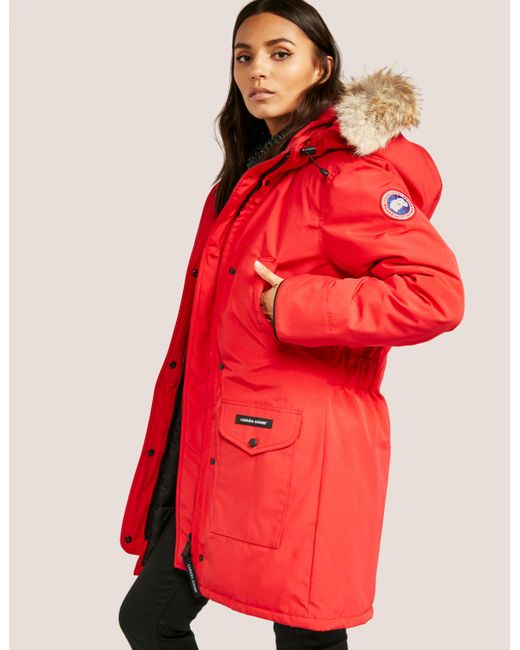 Canada Goose - Womens Trillium Padded Parka Jacket Red - Lyst ...