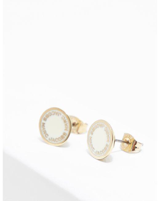Marc Jacobs - Metallic Womens Logo Disc Earrings Gold - Lyst