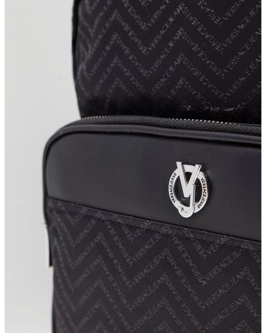 1ff1fea2795b Versace Jeans Linea Chevron Backpack Black in Black for Men - Save ...