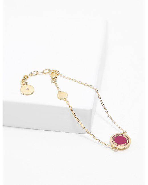 Marc Jacobs - Metallic Womens Logo Disc Bracelet Gold - Lyst