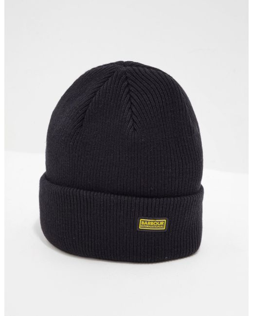 98462a80d3d Barbour - International Beanie - Exclusively To Tessuti Black for Men - Lyst  ...