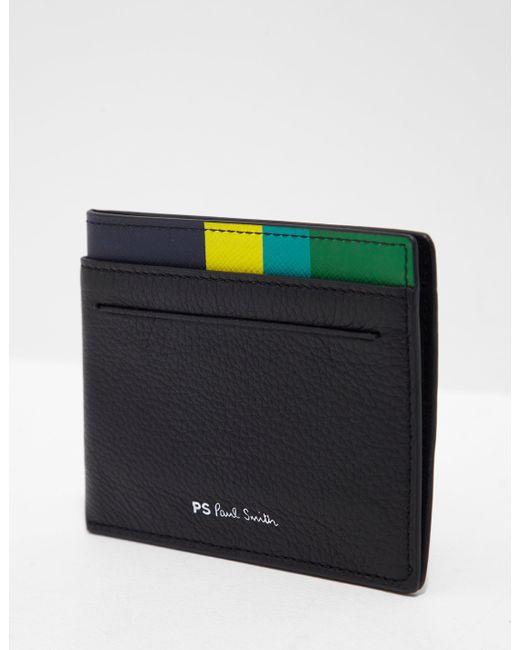 PS by Paul Smith - Mens Slip Corner Cardholder Black for Men - Lyst