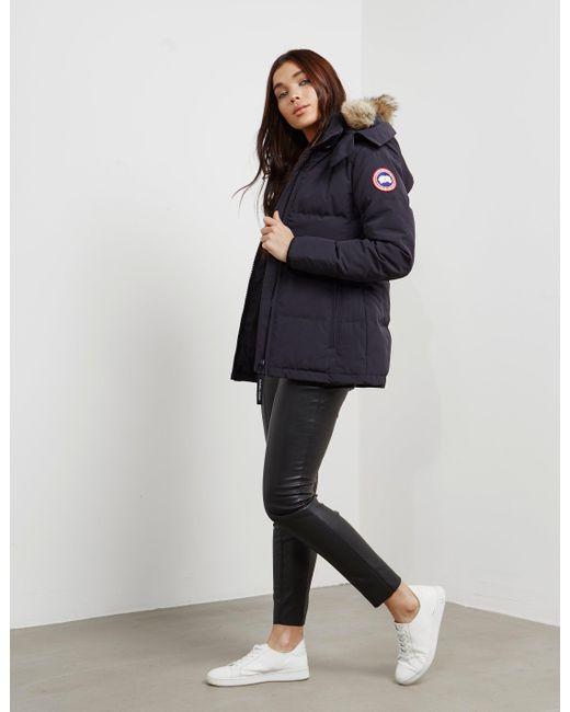 Canada Goose   Blue Chelsea Parka Jacket   Lyst