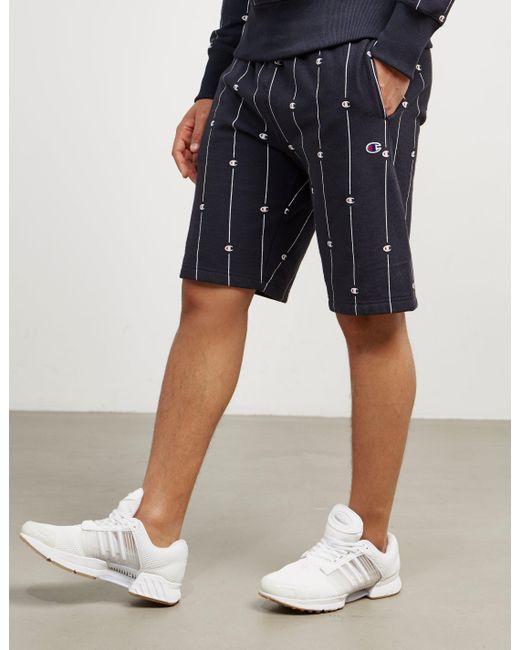 Champion - Mens Pinstripe Shorts Navy Blue for Men - Lyst