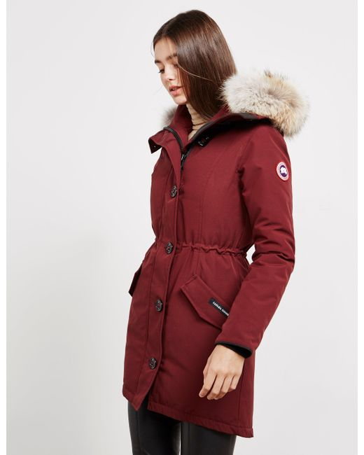 8026792a6c84 Canada Goose Rossclair Padded Parka Jacket Red in Red - Save 20% - Lyst