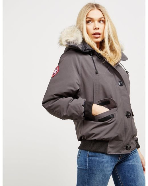 Canada Goose - Multicolor Womens Chilliwack Padded Bomber Jacket Grapgrap  - Lyst ...