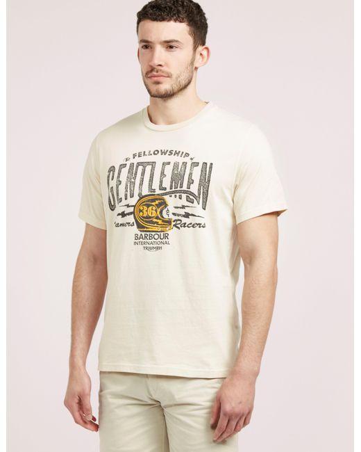 Barbour   Natural International Triumph Short Sleeve T-shirt for Men   Lyst
