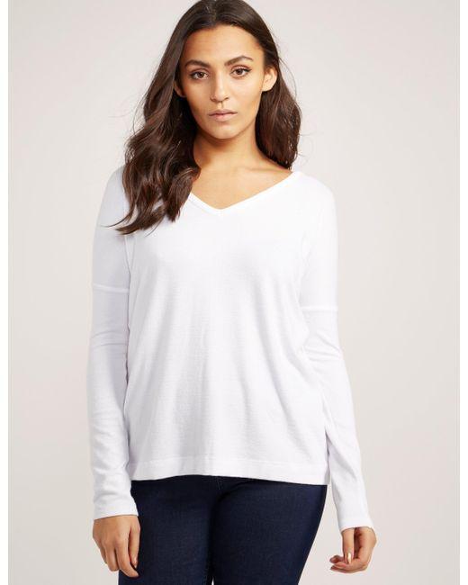 Rag Bone Theo Long Sleeve T Shirt In White Lyst