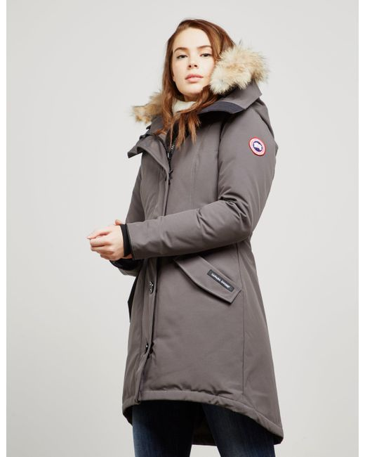 Canada Goose - Gray Womens Rossclair Padded Parka Jacket Grey - Lyst ...