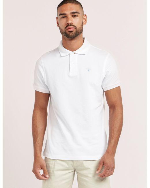 Barbour | White Tartan Pique Short Sleeve Polo Shirt for Men | Lyst