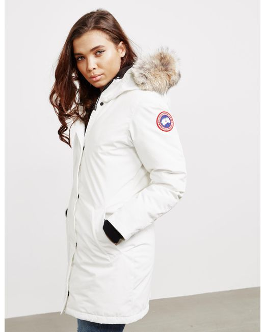 Canada Goose - Womens Victoria Padded Parka Jacket White - Lyst