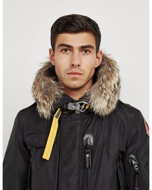 e5388de17df2 ... best price parajumpers mens rhand padded parka jacket black for men  lyst ae56d 3eebe